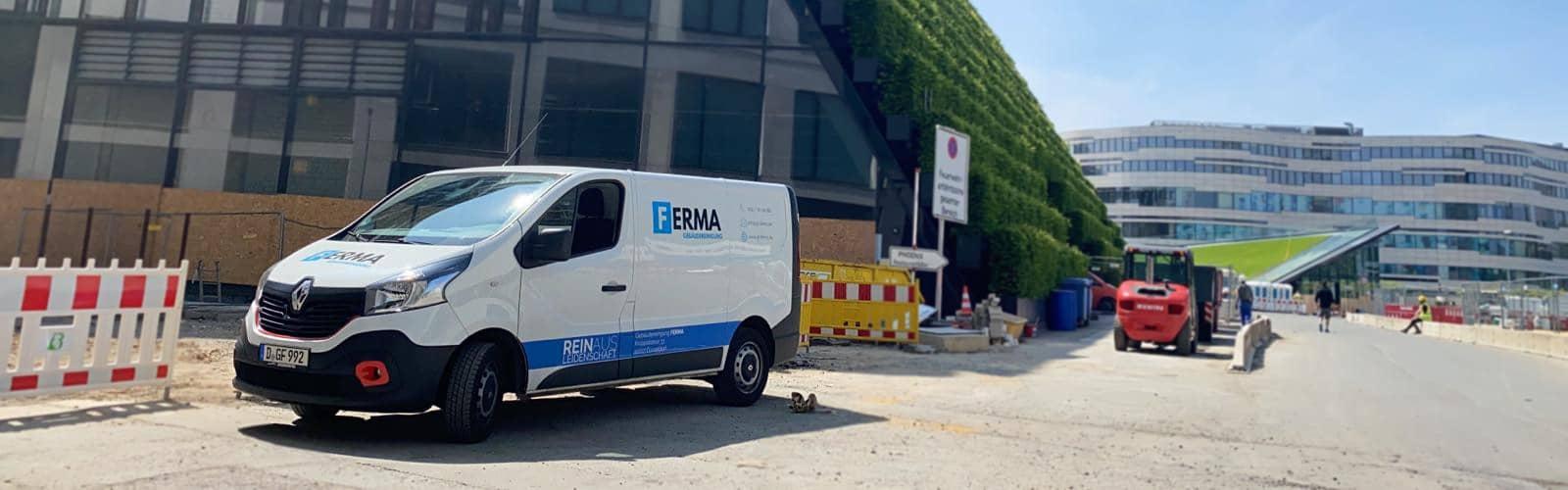 Das ist ein Foto einer Baustelle in Düsseldorf im Sommer